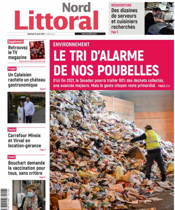 "Le SEVADEC en ""Une"" du quotidien local (16/04/2021)"